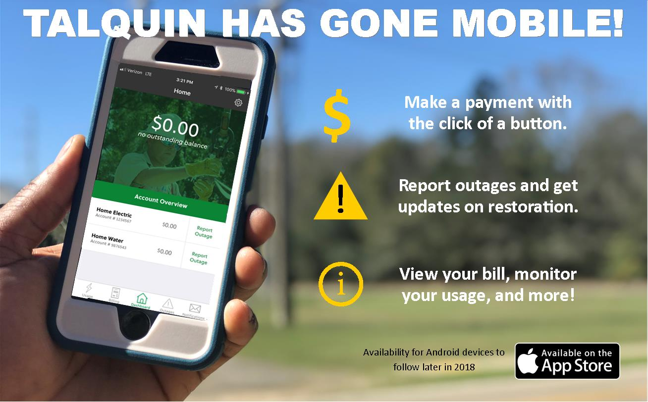 Talquin Mobile App is LIVE!